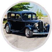 1933 Buick 50 Series Round Beach Towel