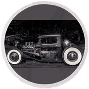 1934 Ford Pickup Hot Rod Round Beach Towel