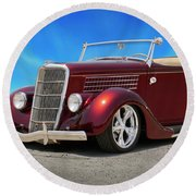 1935 Ford Roadster Round Beach Towel