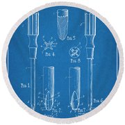 1935 Phillips Screw Driver Blueprint Patent Print Round Beach Towel