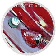 1936 Chrysler Airflow B Round Beach Towel