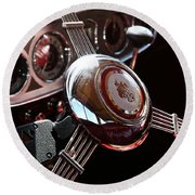 1937 Vintage Model 1508 Steering Wheel Round Beach Towel