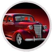 1938 Chevrolet Master Deluxe Sedan Round Beach Towel