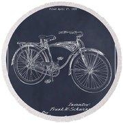 1939 Schwinn Bicycle Blackboard Patent Print Round Beach Towel