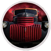 1946 Pickup Round Beach Towel