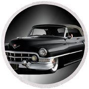 1951 Cadillac Series 62 Convertible Round Beach Towel
