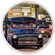 1951 Dodge Fargo Tractor Truck Round Beach Towel