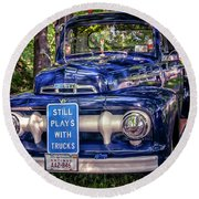 1951 Mercury Pickup Truck Round Beach Towel