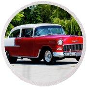 1955 Chevrolet Bel Air Round Beach Towel