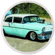 1956 Chevrolet Custom Model 2010  Round Beach Towel