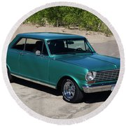 1963 Chevrolet Nova Ss Round Beach Towel