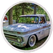 1966 Chevrolet C10 Pickup Truck Round Beach Towel