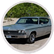 1969 Chevrolet Chevelle Ss 396 Round Beach Towel