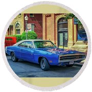 1970 Dodge Charger R/t Round Beach Towel