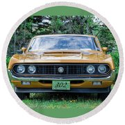 1970 Ford Torino Gt Round Beach Towel