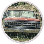 1971 Ford Pickup Truck For Sale In Utah Round Beach Towel
