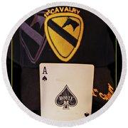 1st. Cavalry Round Beach Towel
