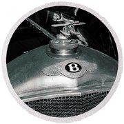 1928 Bentley 4 1/2 Litre Parkward Saloon Round Beach Towel