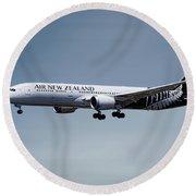 Air New Zealand Boeing 787-9 Dreamliner Round Beach Towel