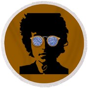 Bob Dylan Blowin In The Wind Round Beach Towel