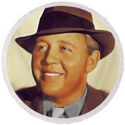Charles Laughton, Vintage Actor Round Beach Towel