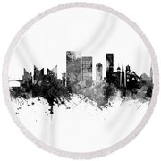 Chattanooga Tennessee Skyline Round Beach Towel