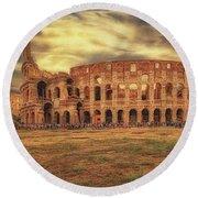 Colosseo, Rome Round Beach Towel