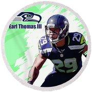 Earl Thomas,seattle Seahawks. Round Beach Towel
