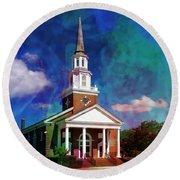 First Baptist Church Myrtle Beach S C Round Beach Towel