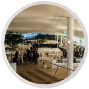 Helsinki Central Library Round Beach Towel