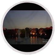 Hot Air 2018 Balloon Glow Round Beach Towel