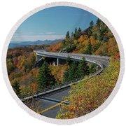 Linn Cove Viaduct - Blue Ridge Parkway Round Beach Towel