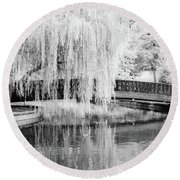 Reflections Of The Landscape Round Beach Towel