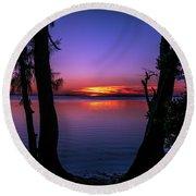 Spectacular Sunset Round Beach Towel