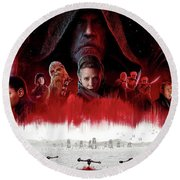 Star Wars The Last Jedi  Round Beach Towel