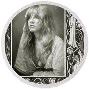 Stevie Nicks Fleetwood Mac Round Beach Towel