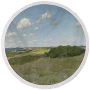 Sunlight And Shadow, Shinnecock Hills Round Beach Towel
