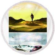 Surfer... Round Beach Towel