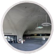 The New Art Center In Taiwan Round Beach Towel