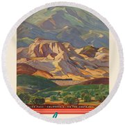 Vintage Poster - California Round Beach Towel