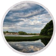 The Bass River Round Beach Towel