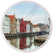 Brugge - Belgium Round Beach Towel