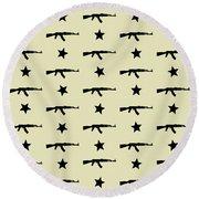 Ak-47 Pattern Round Beach Towel