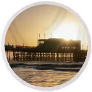 Beautiful Vibrant Sunrise Landscape Image Of Worthing Pier In We Round Beach Towel