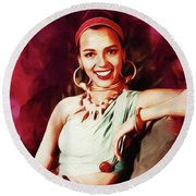 Dorothy Dandridge, Hollywood Legend Round Beach Towel