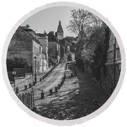 Exploring Paris Round Beach Towel