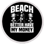Metal Detector Beach Sweep Beep Dig Apparel Round Beach Towel