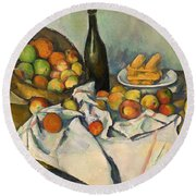 The Basket Of Apples Round Beach Towel