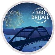 360 Bridge Round Beach Towel