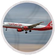 Air Berlin Airbus A321-211 Round Beach Towel